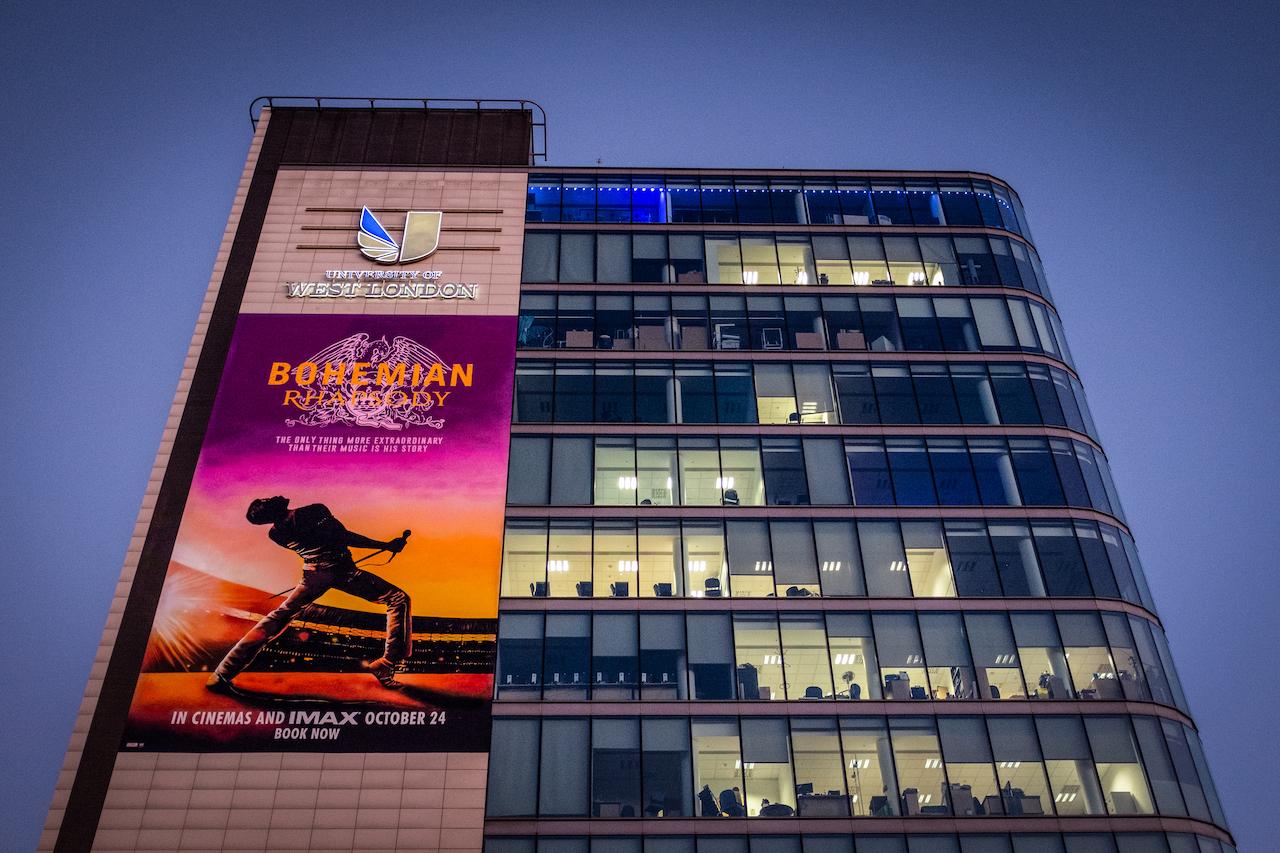 University Celebrates Alumus Biopic With Giant Mural